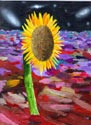 Wesley Tanaka's painting of a sunflower