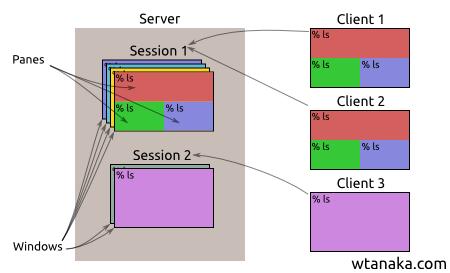 differences between tmux vs screen wesley tanaka